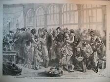 STRASBOURG RAPATRIEMENT PRISONNIERS ALLEMAGNE CUXHAVEN ELBE GRAVURES 1871