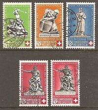 Used Red Cross Swiss Stamps