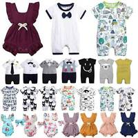 Newborn Toddler Baby Girls Boys Romper Jumpsuit Summer Outfit Clothes Playsuits
