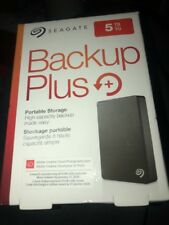 Seagate Backup Plus STDR5000100 5 TB External Hard Drive - Portable - Black