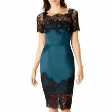 Coast Green Duchess Victorian Lash Lace Pencil Body Contouring Party Dress 10 38