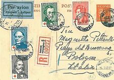 FINLAND - POSTAL STATIONERY: 1948 to ITALY: RED CROSS