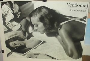 "VENDOME JOAN CRAWFORD"" BLACK AND WHITE POSTER"