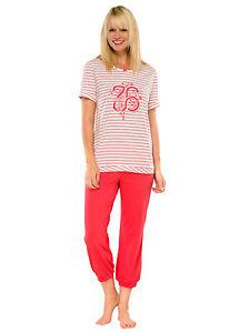 Schiesser Damen 3//4 Schlafanzug Pyjama lavendel Gr.38-48 NEU