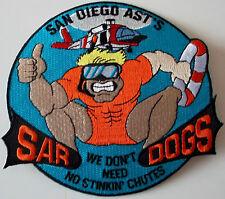 United States Coast Guard (USCG) patch San Diego Ast's Sar Dogs 4-3//4 Dia X 5in