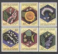 Bulgaria 1987 Flowers/Plants/Bees/Insects 6v set n24889
