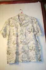 Tranquility pastel colored Island style shirt   Size Large   100% Cotton