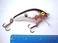"1ct BLACK SILVER SHAD 2.5"" SQUARE Bill CRANKBAIT Bass Fishing Lures Balsa Baits"
