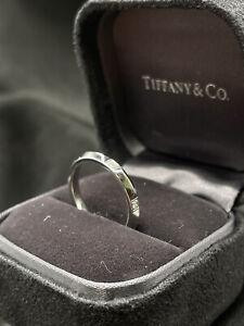 Tiffany & Co Platinum Wedding Band, Size US 6 3/4 Authentic