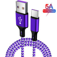5A VERY FAST Charging 5A Type C USB-C Charger Cable For Huawei P20 P30 Pro Lite