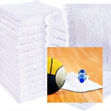White Face Cloths Towels 100 Egyptian Cotton Flannels Wash 500 GSM Pack of 12