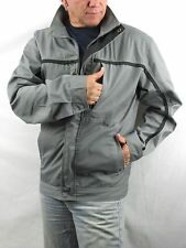 CAT Caterpillar Gray Black  Poly Cotton Jacket Racing Work  Men's M   NYZ13