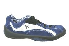 Piloti G16 Prototipo Blue White Suede Leather Athletic Driving Shoes Size 37/5