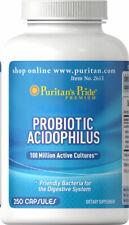 Puritan's Pride Probiotic Acidophilus 250 Capsules Digestive Health