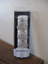 New! David Tutera Bridal Collection Garter w/ Rhinestone & Faux Pearl Accent