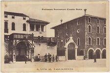 S.VITO AL TAGLIAMENTO - PALAZZO SENATORE CONTE ROTA (PORDENONE) 1930