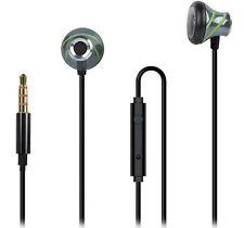 In-Ear Stereo Headset für LENOVO Moto Z2 Force anthrazit / grün