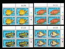 VIRGIN ISLANDS 668-671 MINT NH BLOCKS OF 4 FISH
