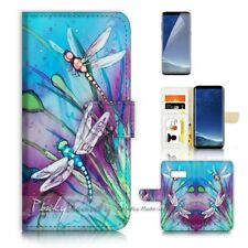( For Samsung S8 ) Wallet Case Cover P21094 Dragonfly