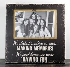RUSTIC HANDMADE WOOD FRIEND FAMILY 4X6 PICTURE FRAME PHOTO SIGN HOME DECOR 1007