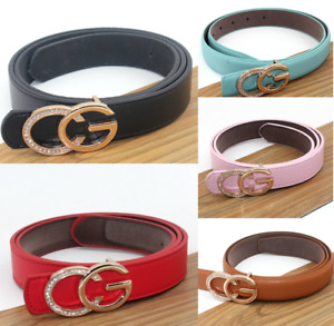 Women Girls Lady Buckle Belt Waist Belt Strap