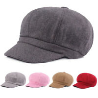 Men Women Solid Color Gatsby Newsboy Hat Driving Cabbie High Quality Casual Cap