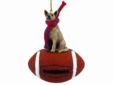 Australian Cattle Dog Red Football Sports Figurine Ornament