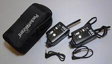 Two Pocket Wizard Plus II Transceiver / Radio Slave US version w/ G-Wiz Case