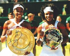 VENUS AND SERENA WILLIAMS SIGNED AUTOGRAPH 8x10 RP PHOTO TENNIS CHAMPIONS