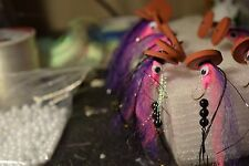 12 Trolling Flies: Pink & Purple Trolling Tandems