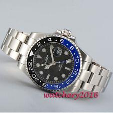 43mm Bliger black dial ceramic bezel Sapphire GMT Automatic movement men's Watch