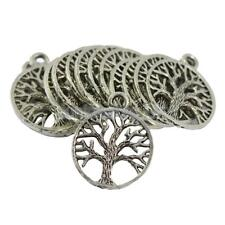 30 Tibetan Silver Tree of Life Charm Braclet Pendant Necklace Jewelry Making