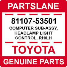 81107-53501 Toyota OEM Genuine COMPUTER SUB-ASSY, HEADLAMP LIGHT CONTROL, RH/LH