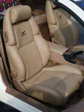 Custom made 1990-1999 300ZX Genuine Leather Seat Covers Dark Tan