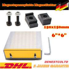 150x150mm Magnetspannplatte Magnetfutter Permanente Spannplatte Magnetic Chuck
