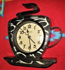 "Westclox 3D Coffee Mug Wall Clock 8.75"" x 10.25"" Cafe Java Decor Art Deco"
