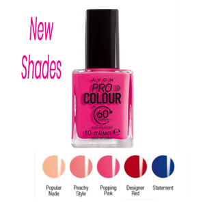 Avon Pro Colour 60 Second Nail Varnish New & Discontinued Colours Fast Dry 3in1
