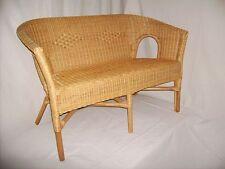 Rattan Bank (Sessel) in der Farbe honig neu geflochten