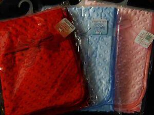 BABY GIRL / BOY SUPER SOFT BUBBLE EFFECT BLANKET/WRAPS 75 X 100CM 3 COLOURS