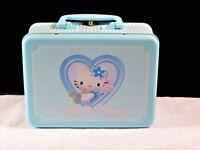 Rare 2001 Hello Kitty Blue Angel Sanrio Tin Lunch Box – 8 Inch - Made In Japan