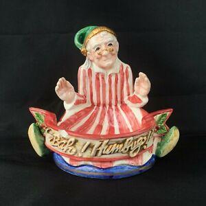 Fitz & Floyd Bah Humbug Scrooge Christmas Carol Tea Light Votive Candle Holder