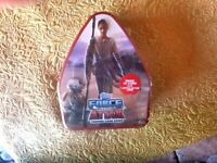 STAR WARS  UNOPENED SEALED TOPPS FORCE ATTAX TRADING CARD GAME IN COLLECTOR TIN