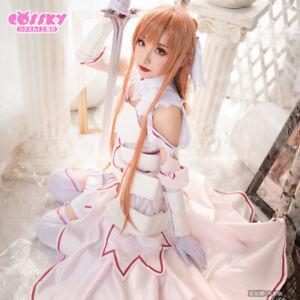 Sword Art Online SAO Alicization Yuuki Asuna Cosplay Kostüm Kleid