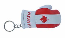 Keychain Mini boxing gloves key chain ring flag key ring cute canada canadian