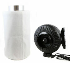 """Combo 6"""" Carbon Filter Hydroponics Inline Fan Air Blower Odor Control"""