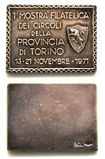 Medaglia Lingotto In Argento 900 – 1° Mostra Filatelica Dei Circoli Della Provin