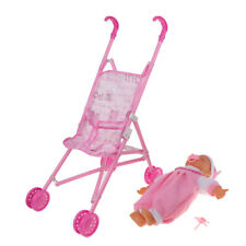 Realistic Baby Doll and Baby Stroller Carriage Simulation Furniture Playset