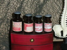 """1:6 scale """"LABORATORY POISON BOTTLE SET""""  ---  with removable lids"""