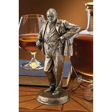 Winston Churchill Regal Bronze Finish Statue Historic Sir Winston Sculpture