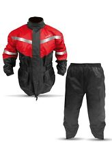 Rain Suit Motorcycle Cruiser Scooter Off Road Gear M L XL XXL 2 PCS